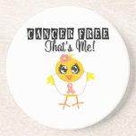 Uterine Cancer - Cancer Free That's Me Beverage Coaster