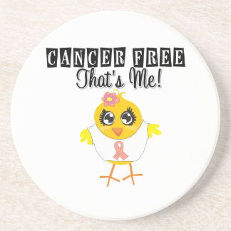 Uterine Cancer - Cancer Free That's Me Coaster