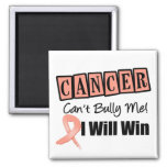 Uterine Cancer Cant Bully Me I Will Win 2 Inch Square Magnet