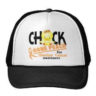 Uterine Cancer Chick Gone Peach 2 Mesh Hats