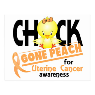 Uterine Cancer Chick Gone Peach 2 Postcard