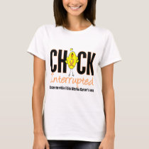 Uterine Cancer Chick Interrupted T-Shirt