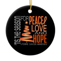 Uterine Cancer Christmas 1 Ornaments