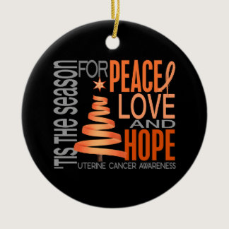 Uterine Cancer Christmas 1 Ornaments