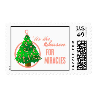 Uterine Cancer Christmas Miracles Stamp