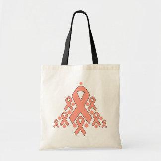 Uterine Cancer Christmas Ribbon Tree Bag