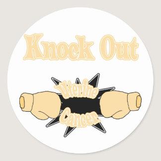 Uterine Cancer Classic Round Sticker