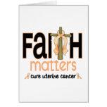 Uterine Cancer Faith Matters Cross 1 Greeting Card