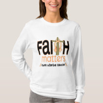 Uterine Cancer Faith Matters Cross 1 T-Shirt
