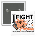Uterine Cancer Fight Like A Girl Sister-in-Law 11 Pin