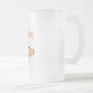 Uterine Cancer Frosted Glass Beer Mug