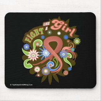 Uterine Cancer Groovy Fight Like A Girl Mouse Pad