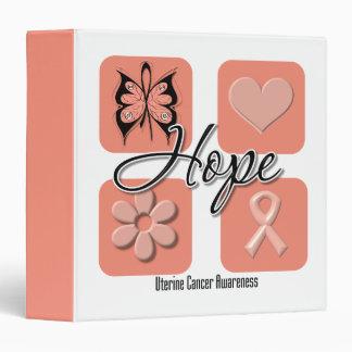 Uterine Cancer Hope Awareness Binder