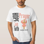 Uterine Cancer Hope Love Faith Prayer Cross Tee Shirts