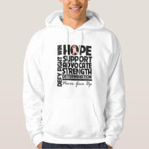 Uterine Cancer Hope Support Advocate Hoodie