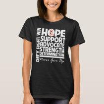 Uterine Cancer Hope Support Strength T-Shirt