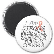 Uterine Cancer I Am Strong Survivor Magnet