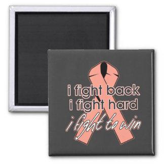Uterine Cancer I Fight Back 2 Inch Square Magnet