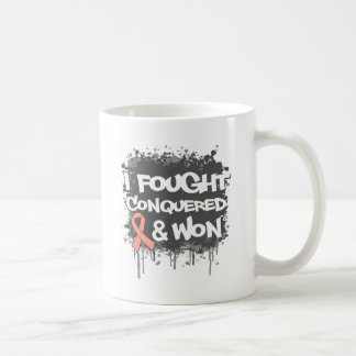 Uterine Cancer I Fought Conquered Won Coffee Mugs