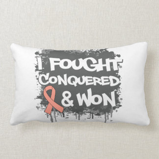 Uterine Cancer I Fought Conquered Won Pillow
