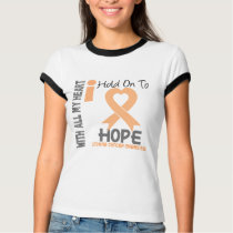 Uterine Cancer I Hold On To Hope T-Shirt