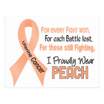Uterine Cancer I Proudly Wear Peach 1 Postcard