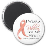 Uterine Cancer I Wear a Ribbon For My Hero Magnet