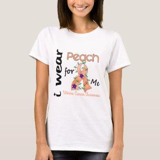 Uterine Cancer I Wear Peach For ME 43 T-Shirt