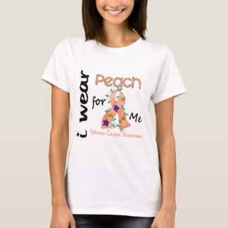Uterine Cancer I Wear Peach For ME 43 T-Shirt