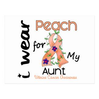 Uterine Cancer I Wear Peach For My Aunt 43 Postcard