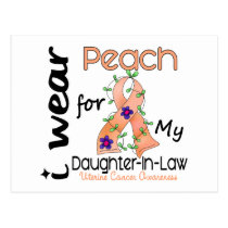 Uterine Cancer I Wear Peach For My Daughter-In-Law Postcard
