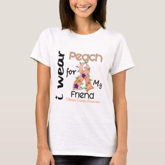Uterine Cancer I Wear Peach For My Friend 43 T-Shirt