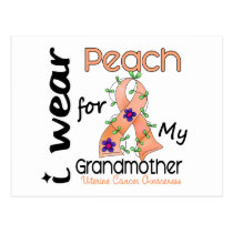 Uterine Cancer I Wear Peach For My Grandmother 43 Postcard