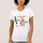 Uterine Cancer I Wear Peach For My Mom 43 Tshirt
