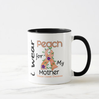 Uterine Cancer I Wear Peach For My Mother 43 Mug