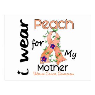 Uterine Cancer I Wear Peach For My Mother 43 Postcard