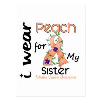 Uterine Cancer I Wear Peach For My Sister 43 Postcard