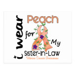 Uterine Cancer I Wear Peach For My Sister-In-Law Postcard