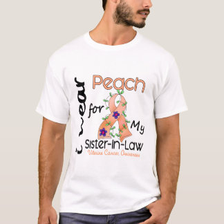 Uterine Cancer I Wear Peach For My Sister-In-Law T-Shirt