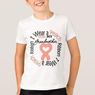 Uterine Cancer I Wear Peach Ribbon For Grandmother T-Shirt