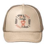 Uterine Cancer I Wear Peach Ribbon For My Wife Trucker Hat