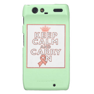 Uterine Cancer Keep Calm and Carry ON Droid RAZR Case