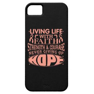 Uterine Cancer Living Life with Faith iPhone 5 Case