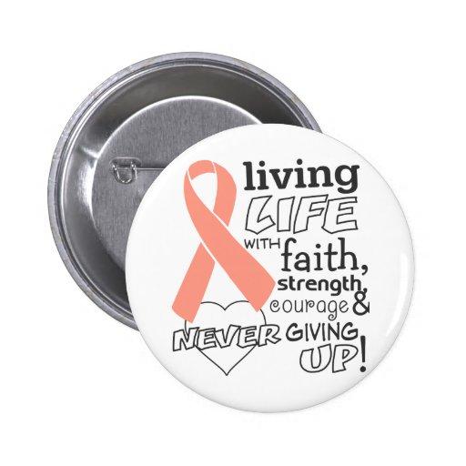 Uterine Cancer Living Life With Faith Pins