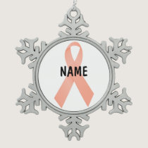 Uterine Cancer Memorial Ornament