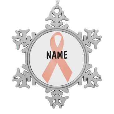Christmas Themed Uterine Cancer Memorial Ornament