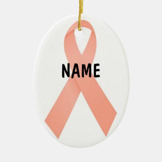 Uterine Cancer Memorial Ribbon Christmas Ornament