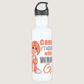 Uterine Cancer Messed With Wrong Girl.png Water Bottle