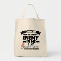Uterine Cancer Met Its Worst Enemy In Me.png Tote Bag