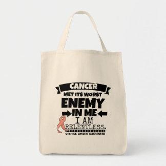 Uterine Cancer Met Its Worst Enemy In Me.png Tote Bag